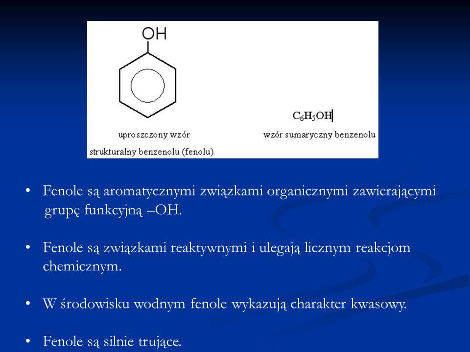 Fenole są aromatycznymi związkami organicznymi zawierającymi