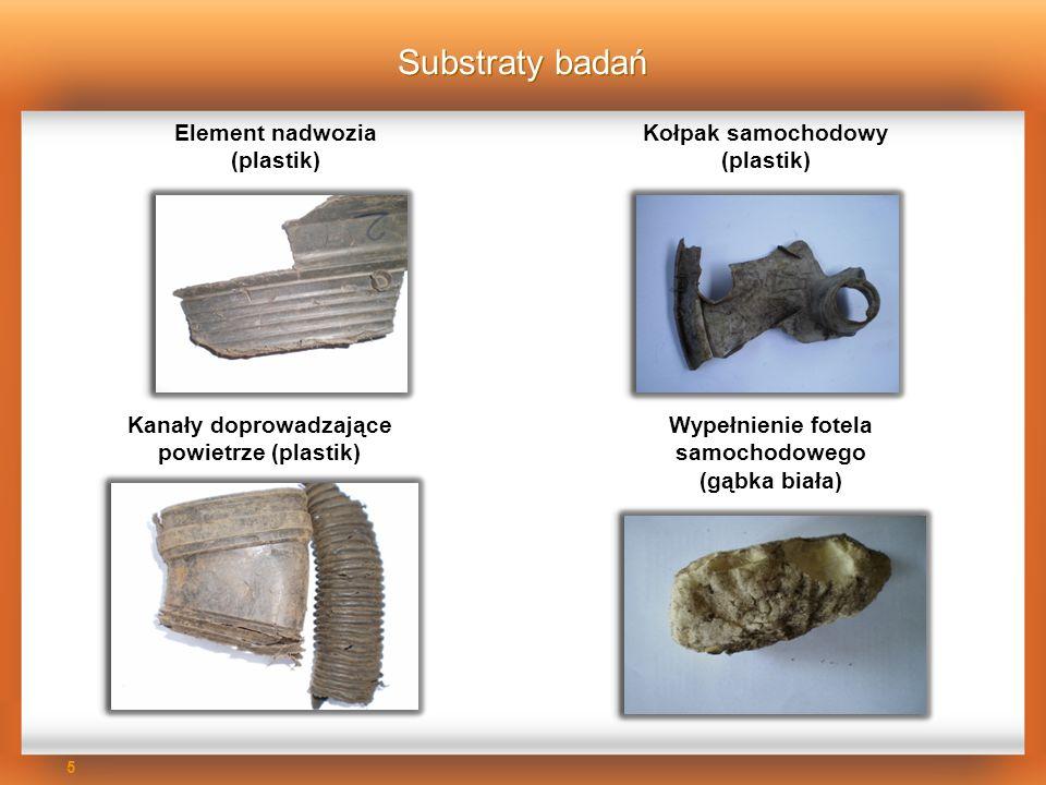 Substraty badań Element nadwozia (plastik)