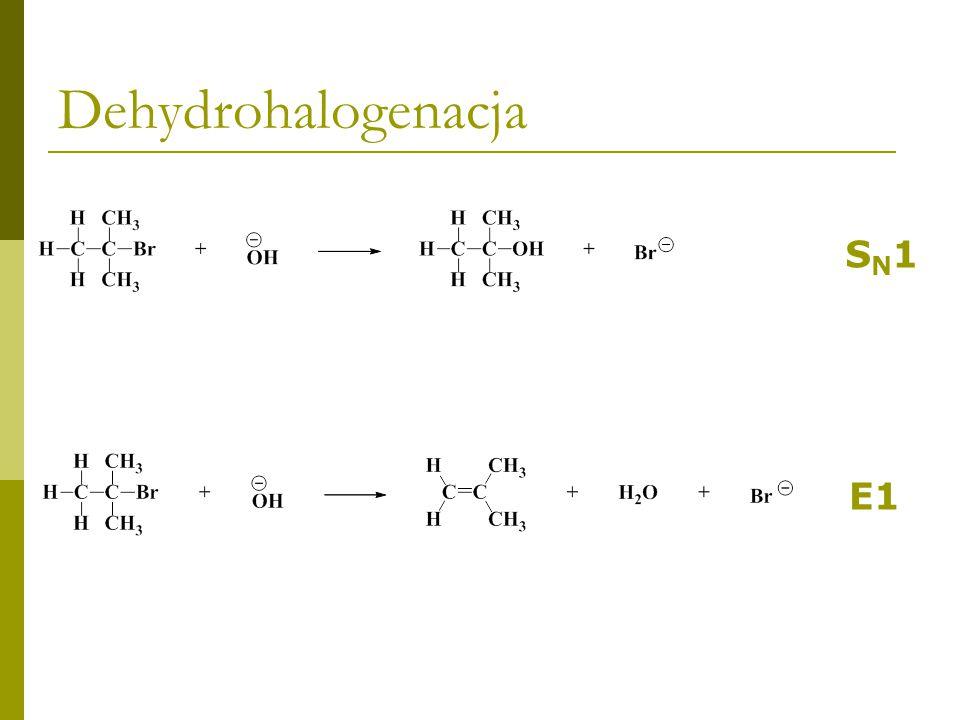 Dehydrohalogenacja SN1 E1