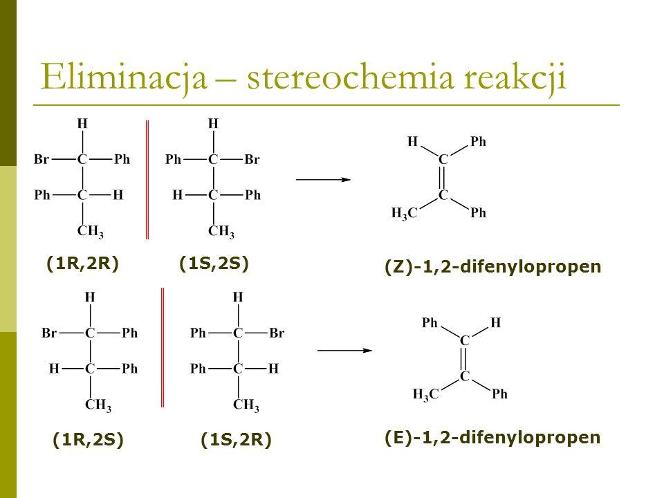 Eliminacja – stereochemia reakcji