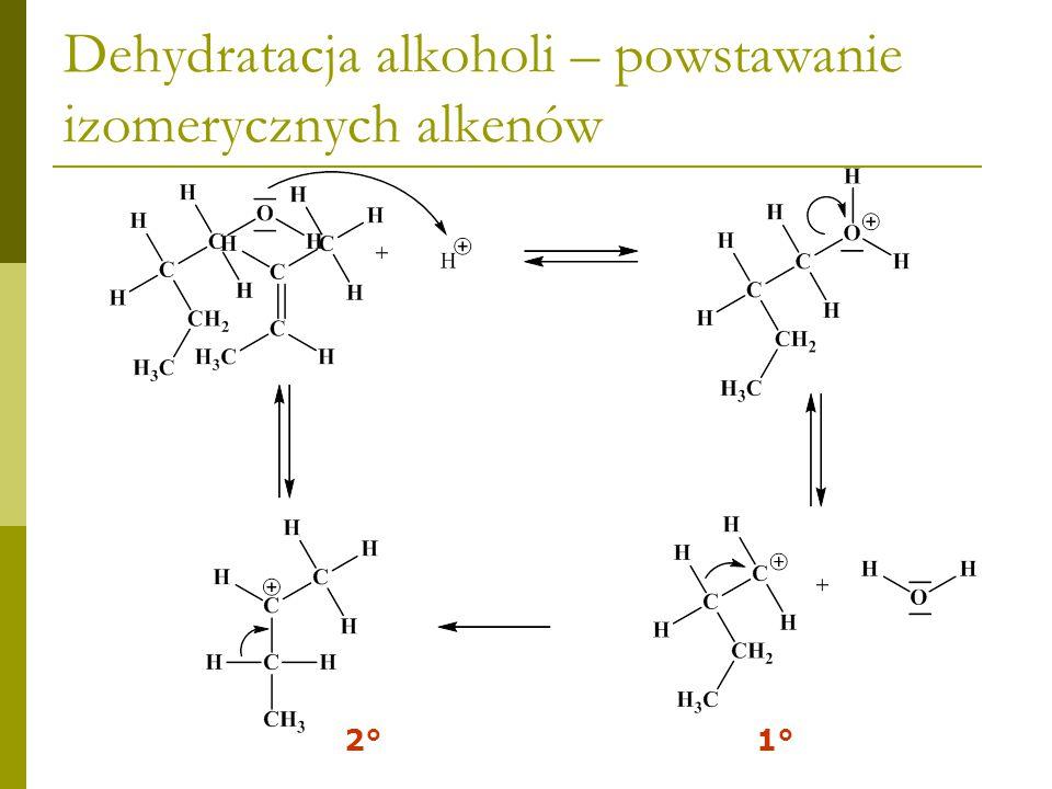 Dehydratacja alkoholi – powstawanie izomerycznych alkenów