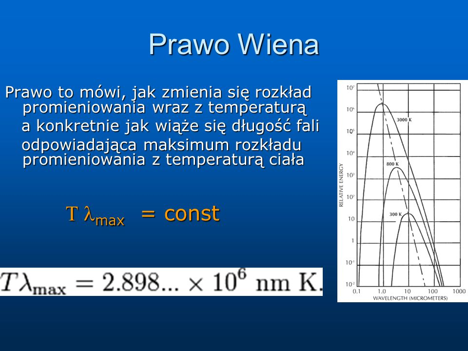 Prawo Wiena T lmax = const