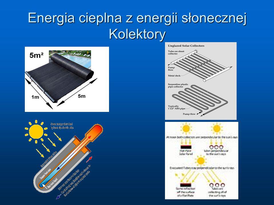 Energia cieplna z energii słonecznej Kolektory
