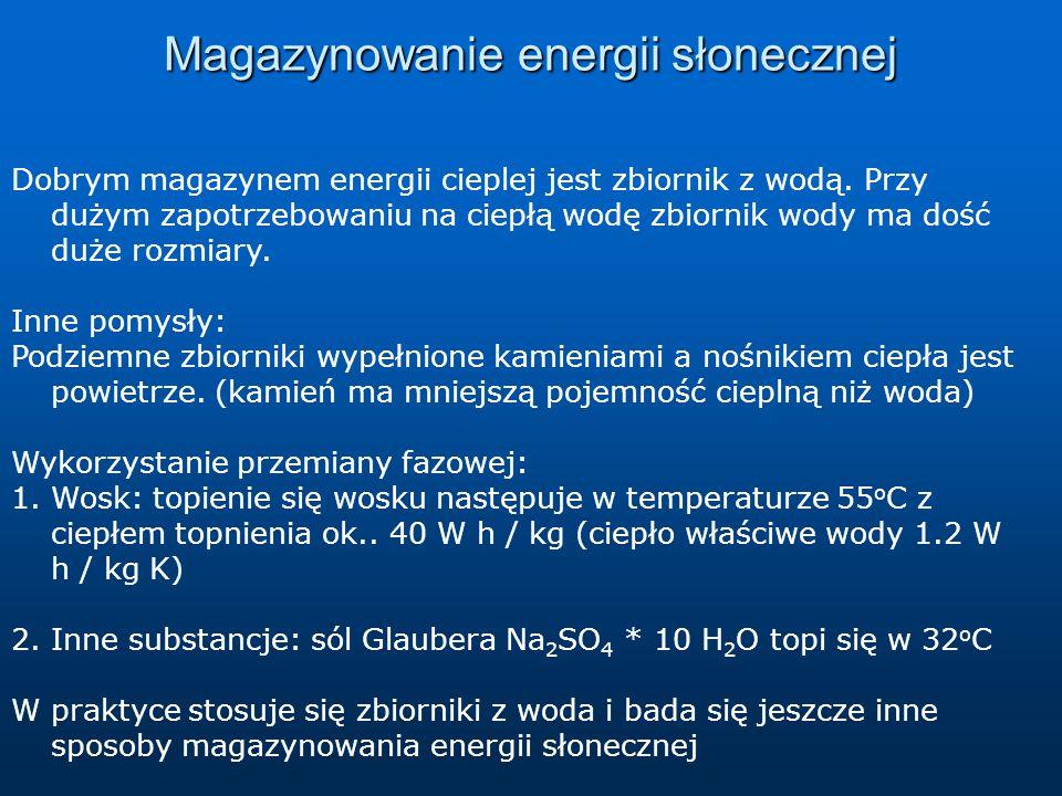 Magazynowanie energii słonecznej