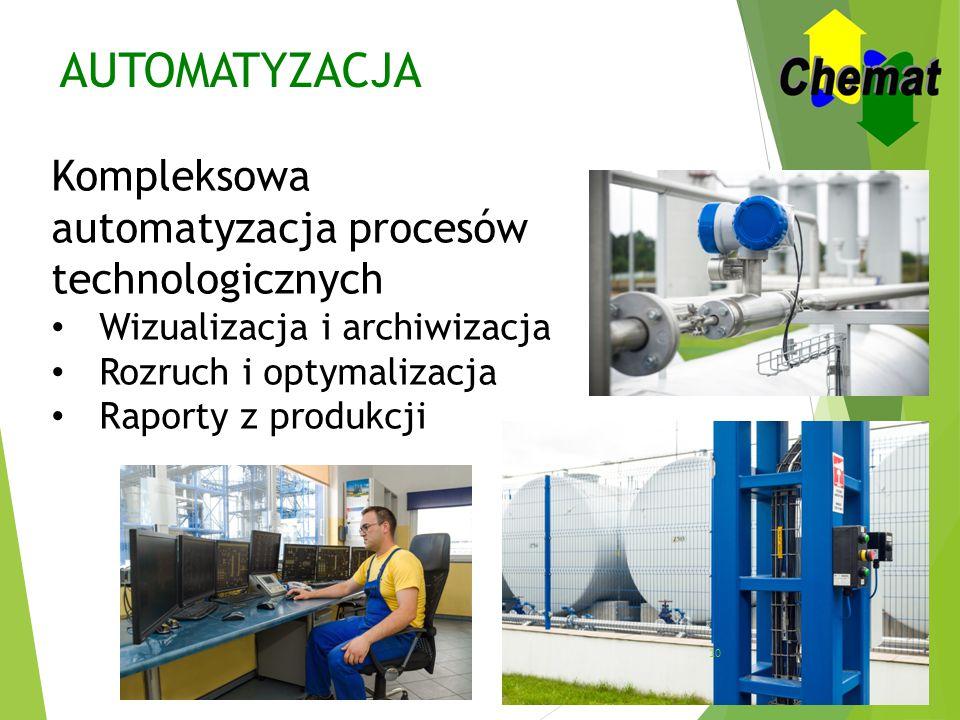 AUTOMATYZACJA Kompleksowa automatyzacja procesów technologicznych