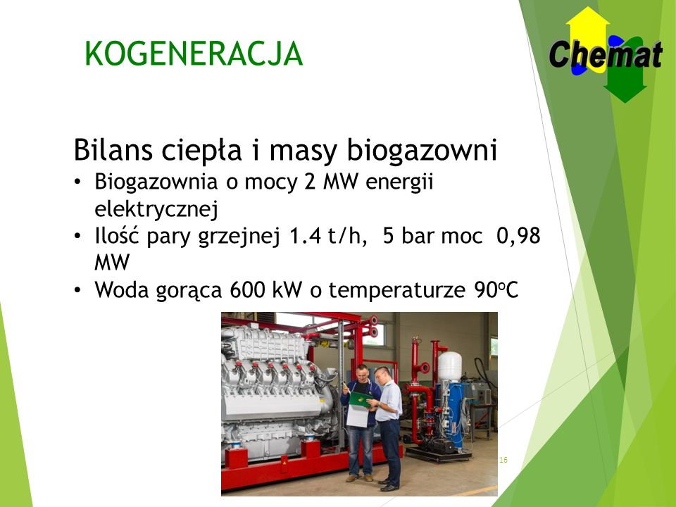KOGENERACJA Bilans ciepła i masy biogazowni