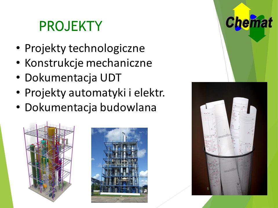 PROJEKTY Projekty technologiczne Konstrukcje mechaniczne