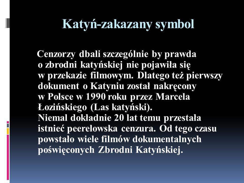 Katyń-zakazany symbol