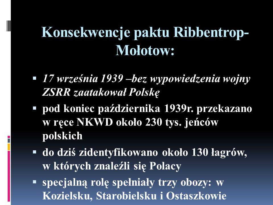 Konsekwencje paktu Ribbentrop-Mołotow: