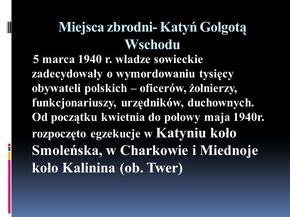 Miejsca zbrodni- Katyń Golgotą Wschodu