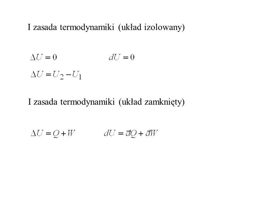 I zasada termodynamiki (układ izolowany)