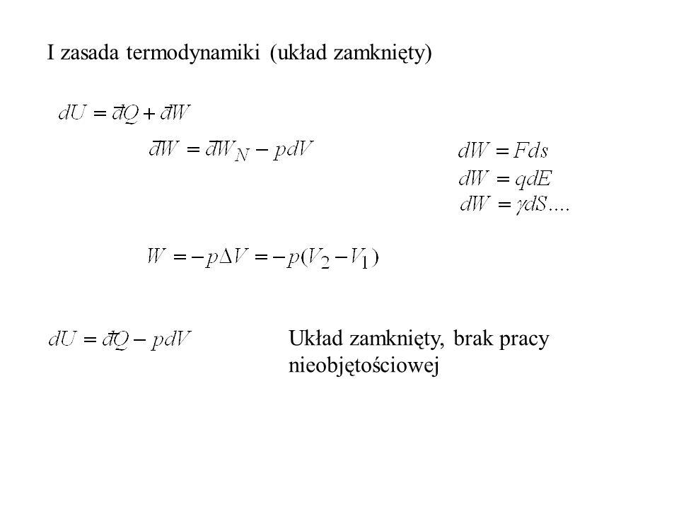I zasada termodynamiki (układ zamknięty)