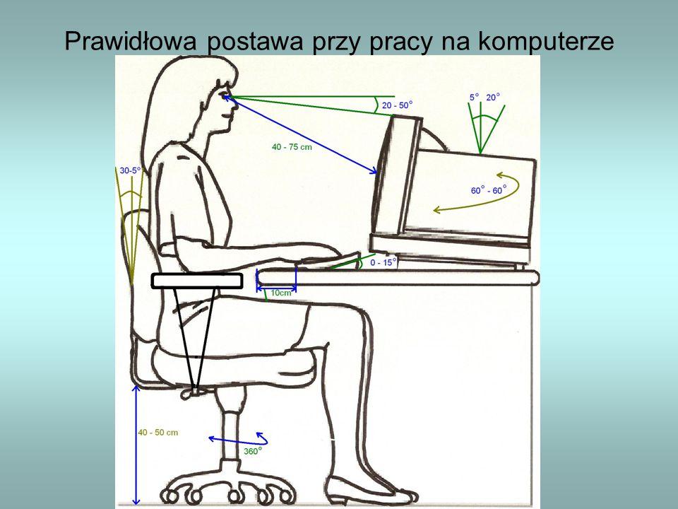 Prawidłowa postawa przy pracy na komputerze