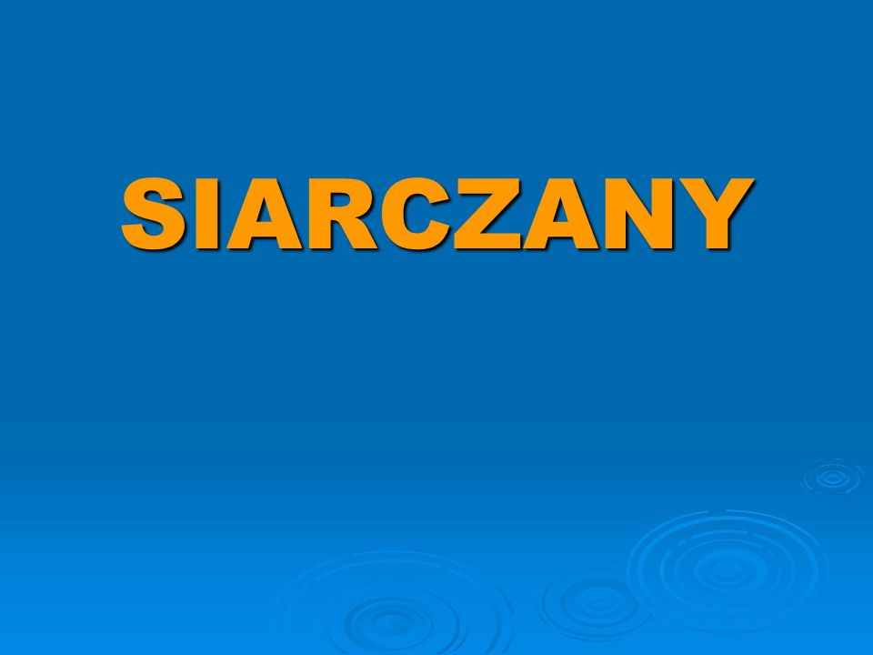 SIARCZANY