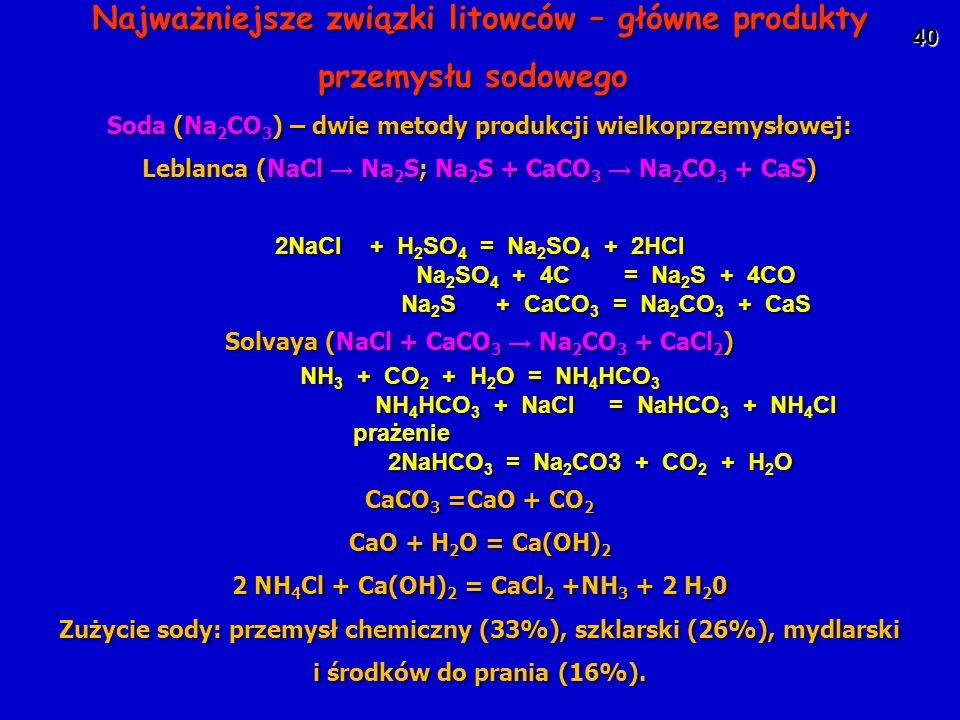 Najważniejsze związki litowców – główne produkty przemysłu sodowego