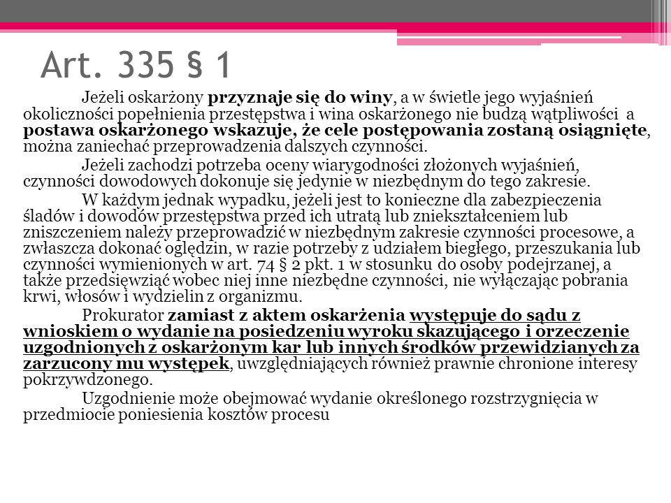 Art. 335 § 1