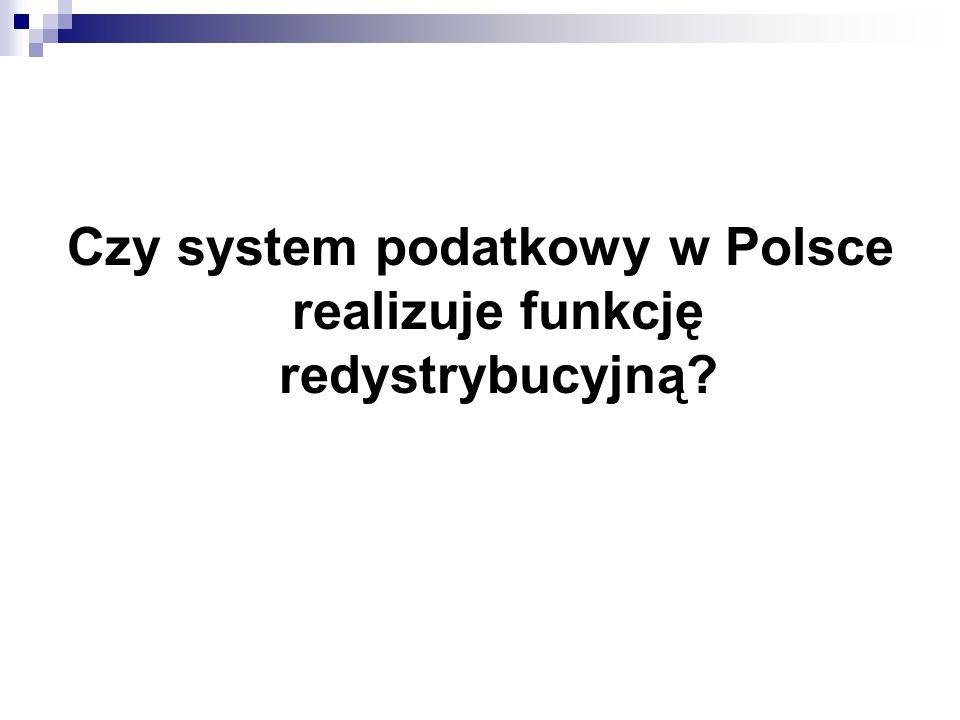 Czy system podatkowy w Polsce realizuje funkcję redystrybucyjną