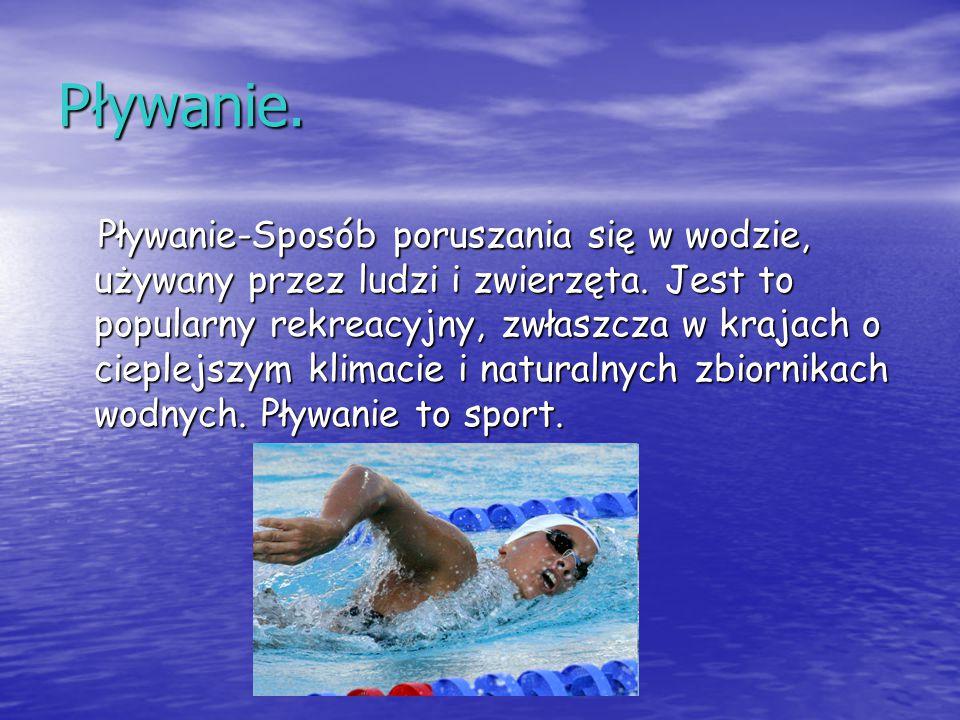 Pływanie.