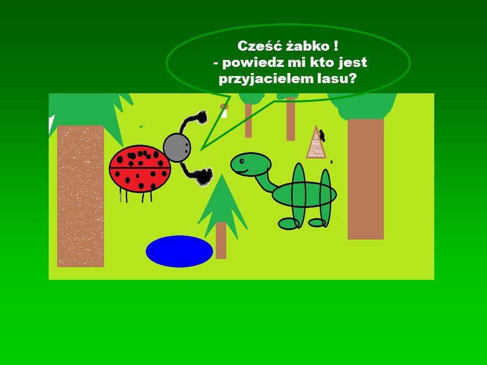 Cześć żabko ! - powiedz mi kto jest przyjacielem lasu