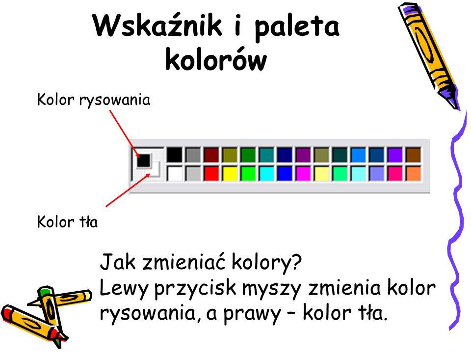 Wskaźnik i paleta kolorów