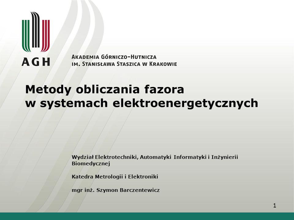 Metody obliczania fazora w systemach elektroenergetycznych