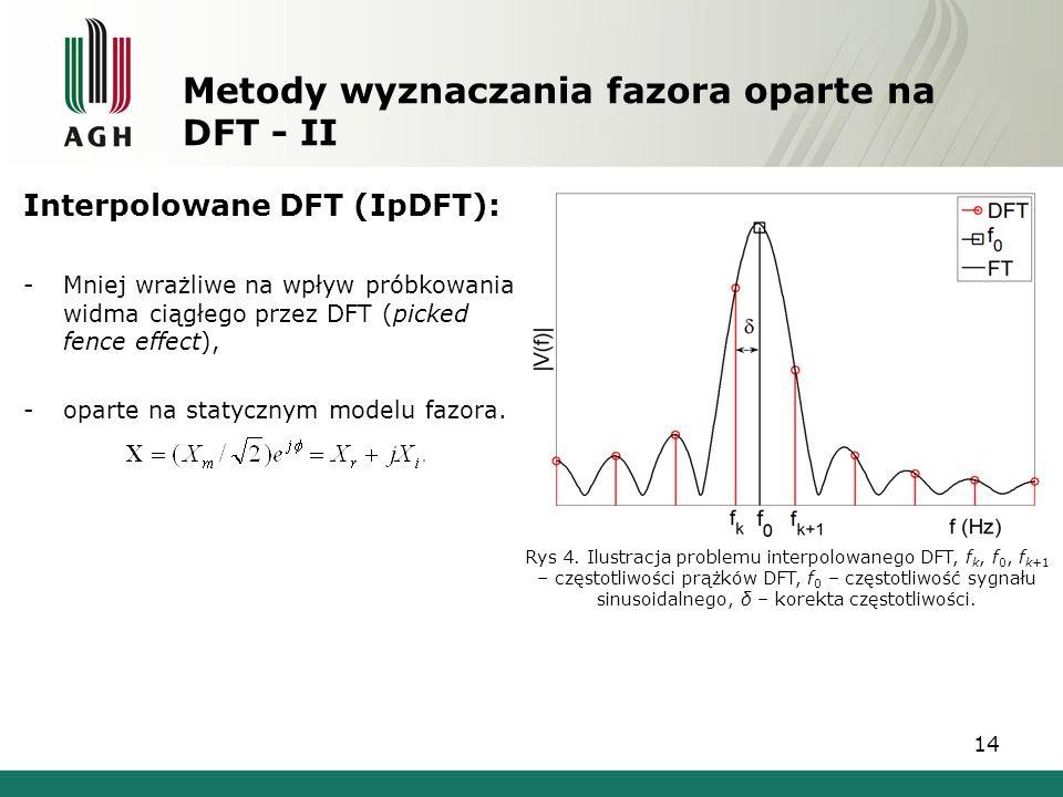 Metody wyznaczania fazora oparte na DFT - II