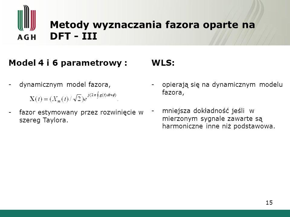 Metody wyznaczania fazora oparte na DFT - III