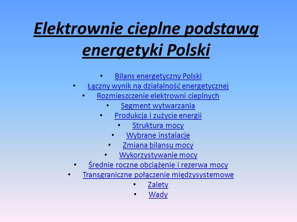 Elektrownie cieplne podstawą energetyki Polski