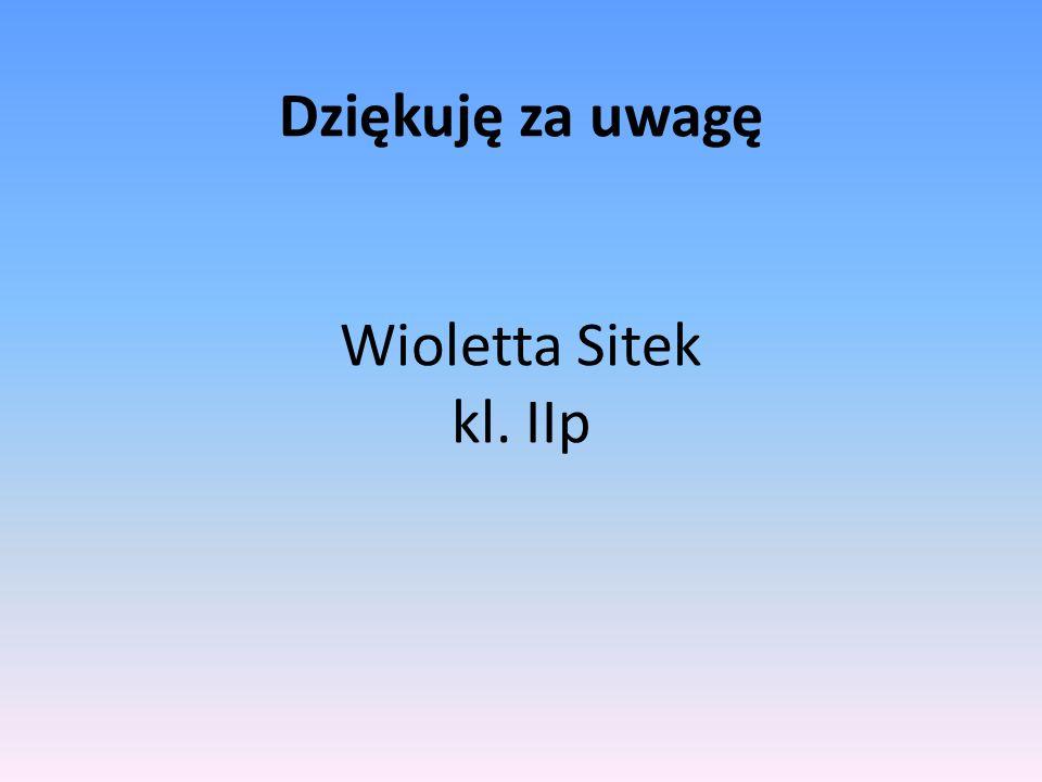 Dziękuję za uwagę Wioletta Sitek kl. IIp