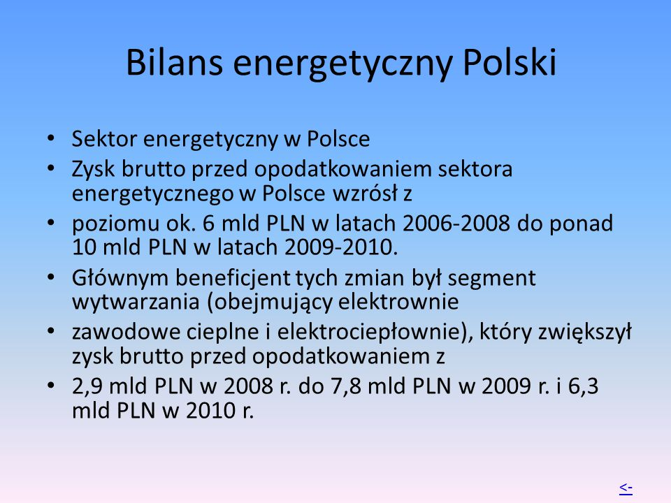Bilans energetyczny Polski