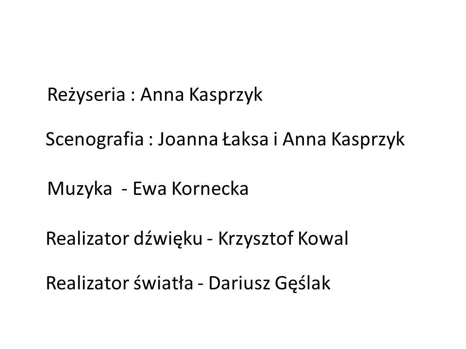 Reżyseria : Anna Kasprzyk Scenografia : Joanna Łaksa i Anna Kasprzyk