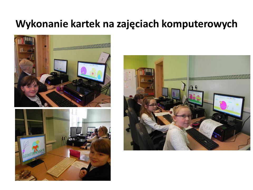Wykonanie kartek na zajęciach komputerowych
