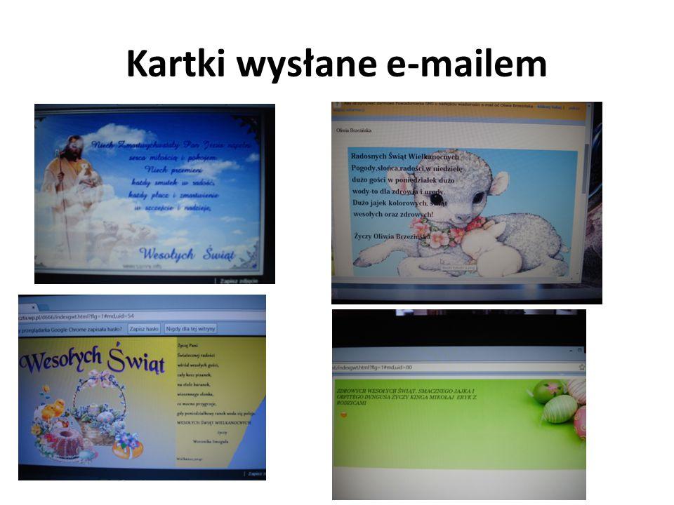 Kartki wysłane e-mailem