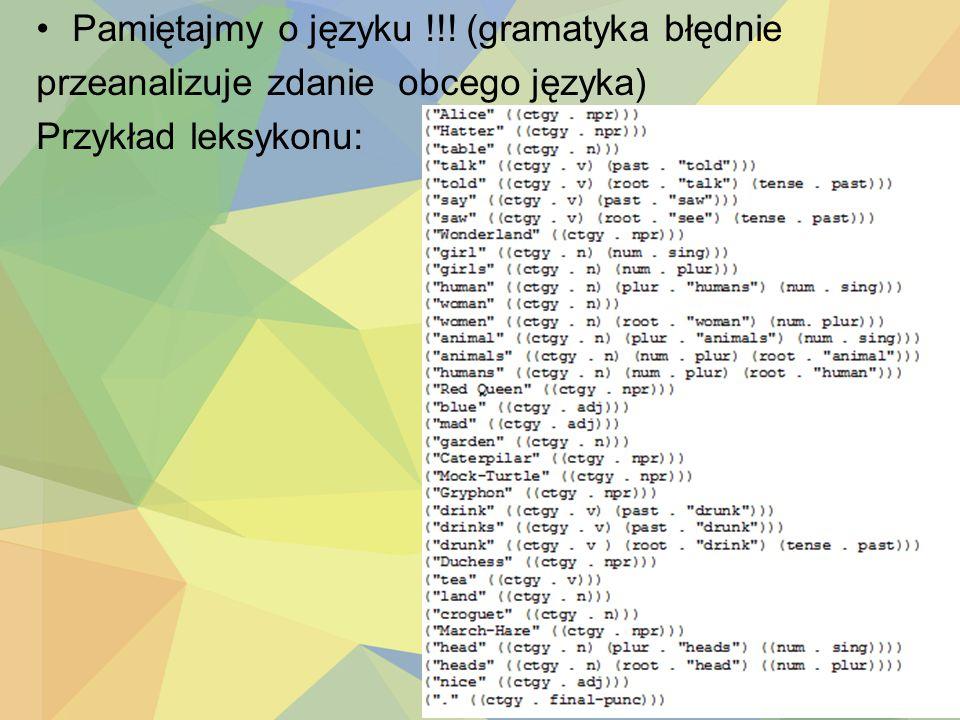 Pamiętajmy o języku !!! (gramatyka błędnie