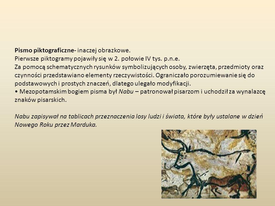 Pismo piktograficzne- inaczej obrazkowe.