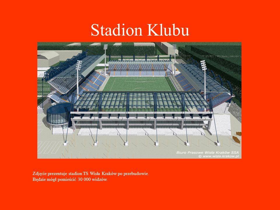 Stadion Klubu Zdjęcie prezentuje stadion TS Wisła Kraków po przebudowie.