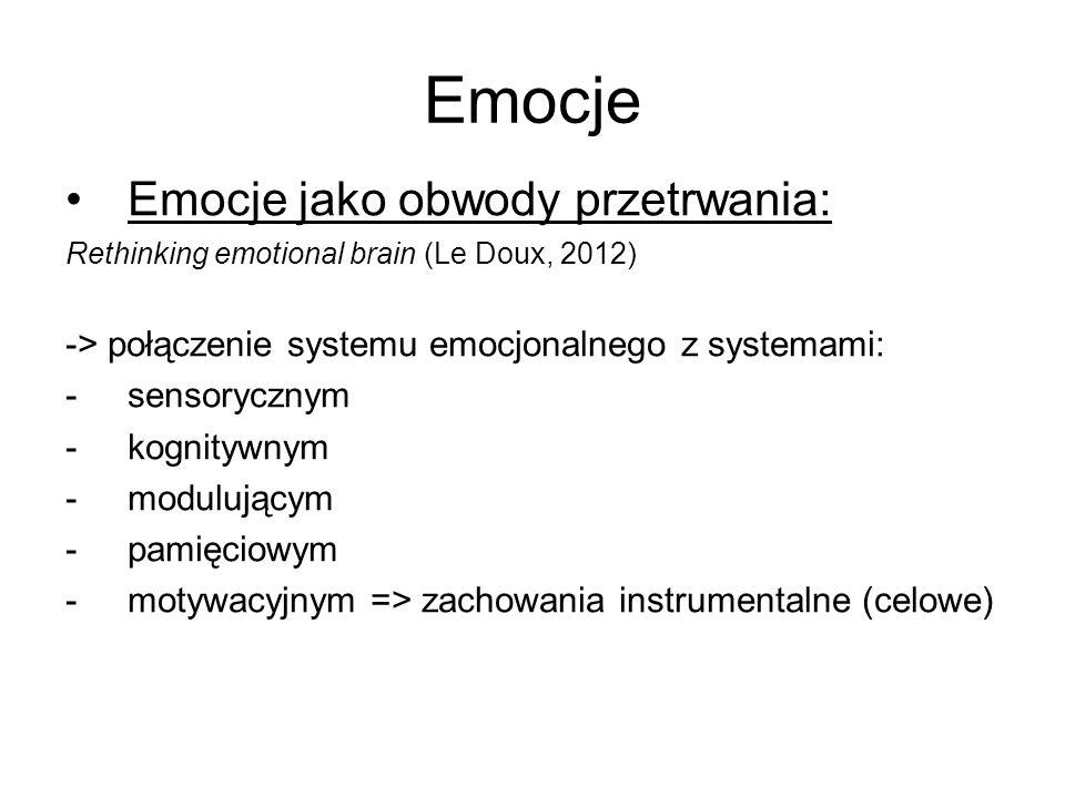 Emocje Emocje jako obwody przetrwania: