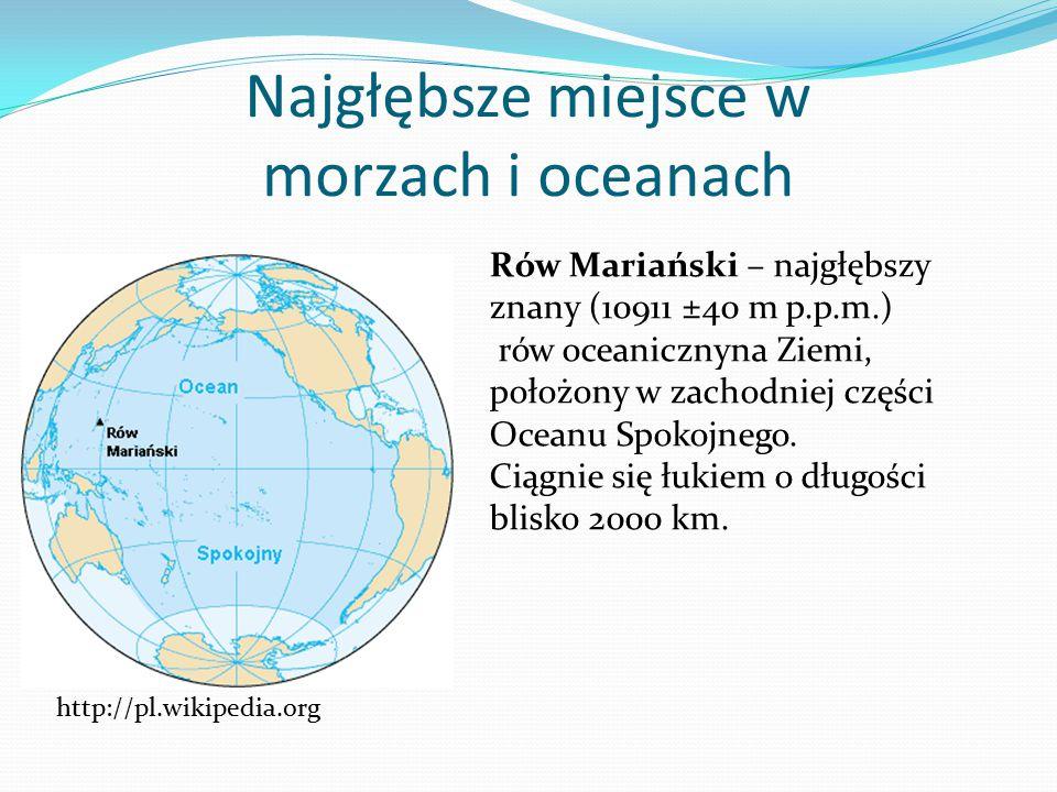 Najgłębsze miejsce w morzach i oceanach