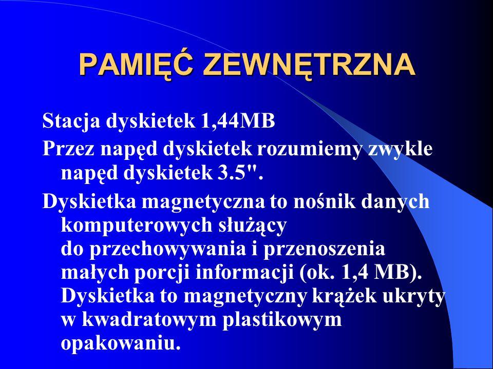 PAMIĘĆ ZEWNĘTRZNA Stacja dyskietek 1,44MB