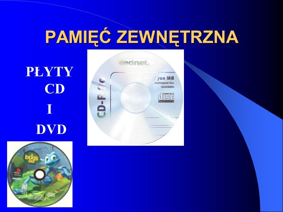 PAMIĘĆ ZEWNĘTRZNA PŁYTY CD I DVD
