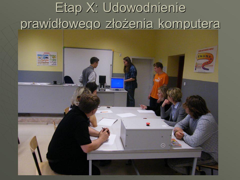 Etap X: Udowodnienie prawidłowego złożenia komputera