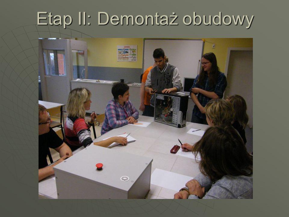 Etap II: Demontaż obudowy
