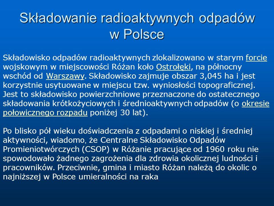 Składowanie radioaktywnych odpadów w Polsce
