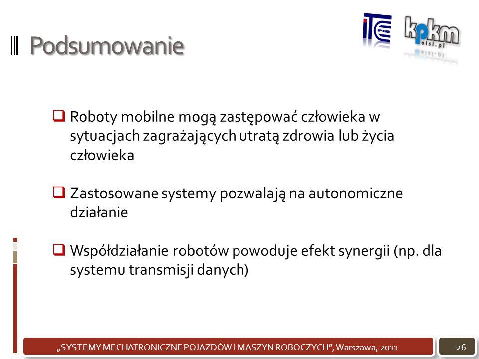 """""""SYSTEMY MECHATRONICZNE POJAZDÓW I MASZYN ROBOCZYCH , Warszawa, 2011"""