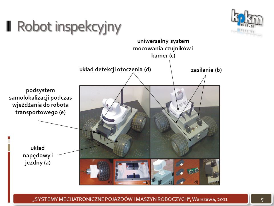 Robot inspekcyjny uniwersalny system mocowania czujników i kamer (c)