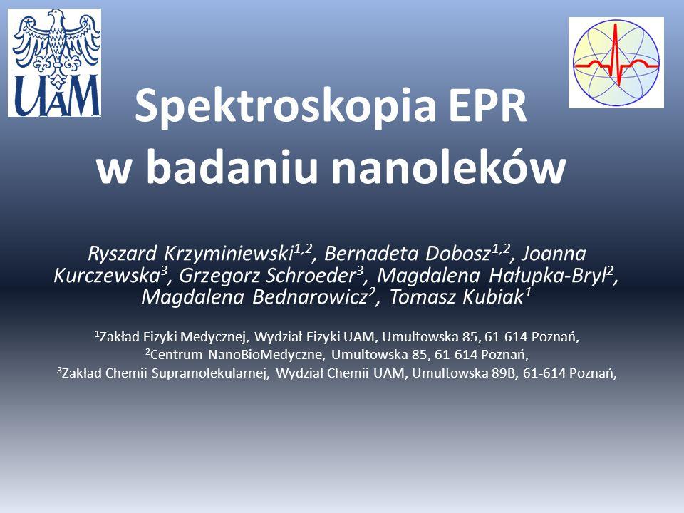 Spektroskopia EPR w badaniu nanoleków