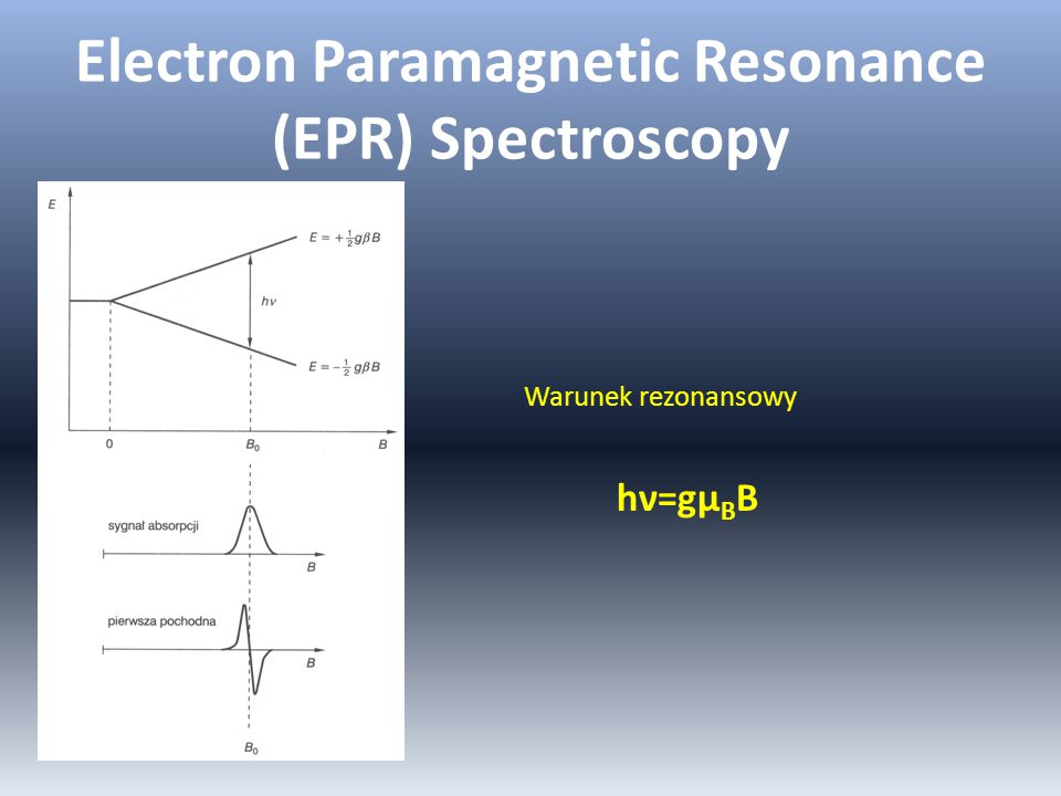 Electron Paramagnetic Resonance (EPR) Spectroscopy