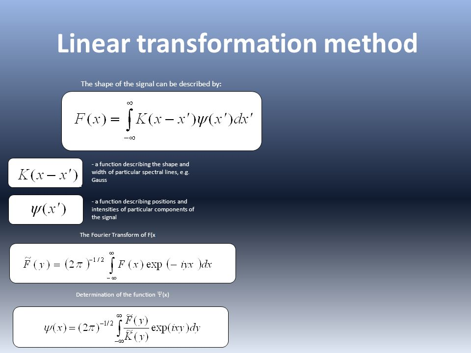 Linear transformation method