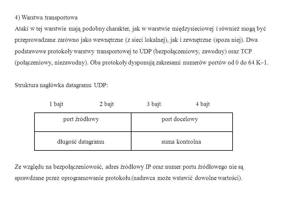 4) Warstwa transportowa