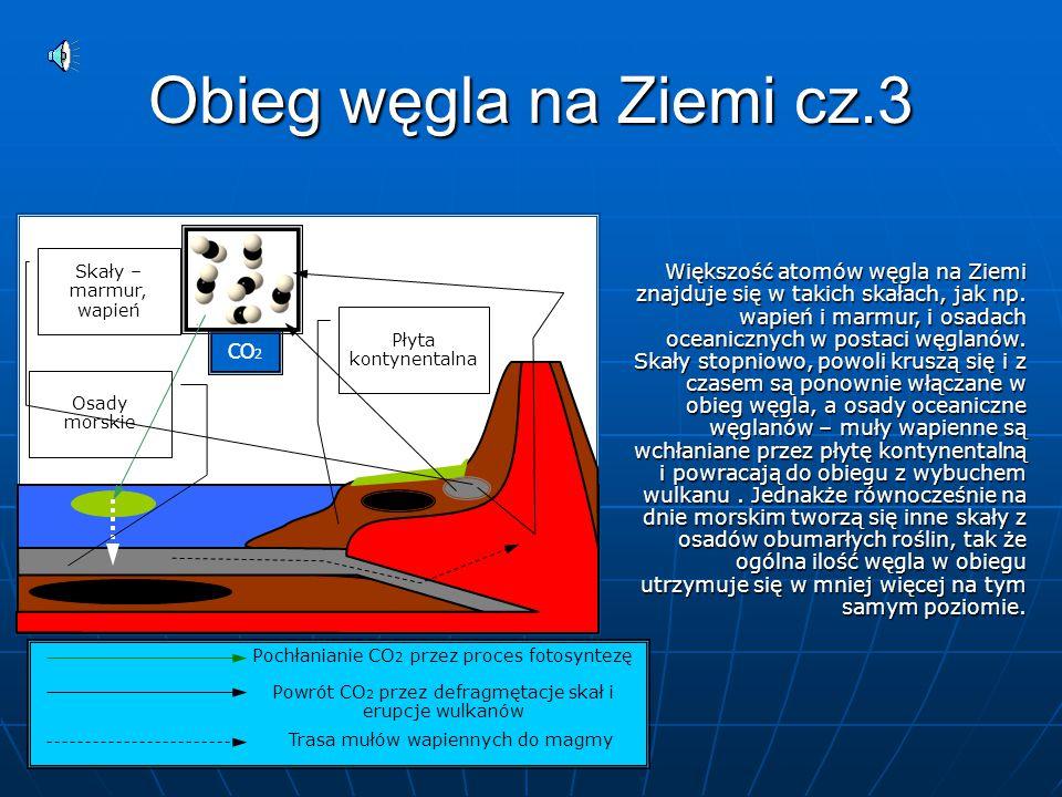 Obieg węgla na Ziemi cz.3 CO2. Skały – marmur, wapień.